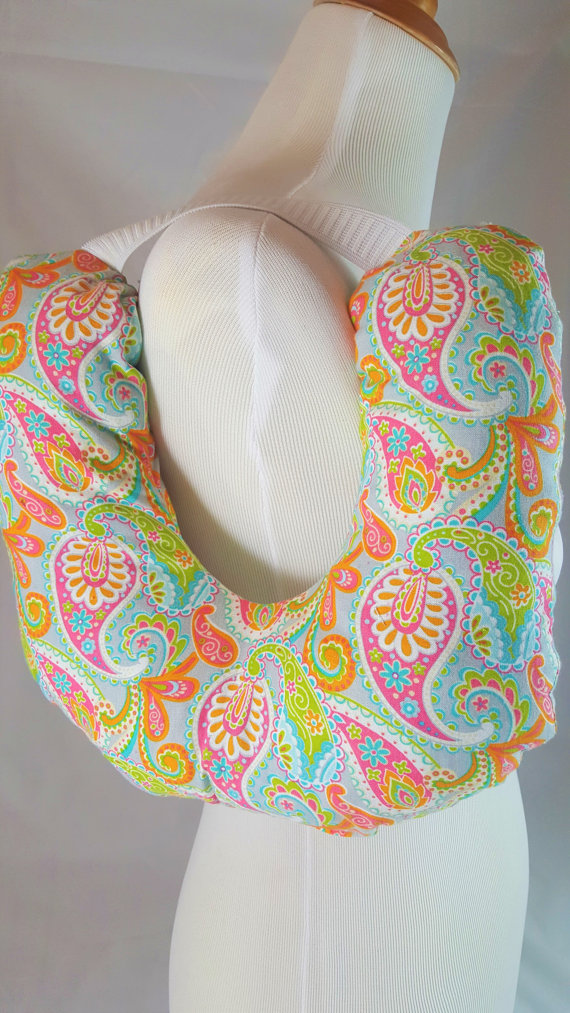 Post Surgery Mastectomy Pillow Multi Color Paisley-3822