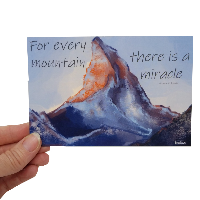 mountain card